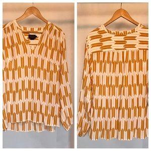 Pendleton drapey pop over blouse. Size (XL)